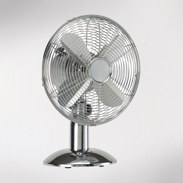 ayce ménage aireo ventilateur de table 40 cm chrome